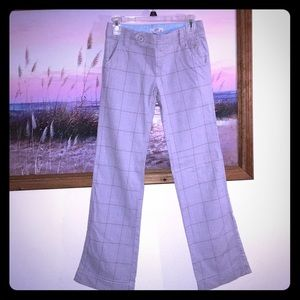 SO Gray plaid low rise trousers- 1